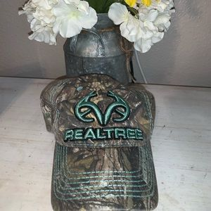 Real Tree teal and camp hat
